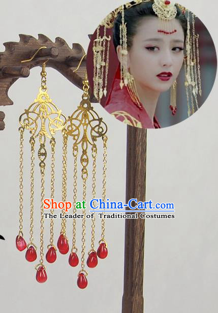 Traditional Chinese Ancient Jewelry Accessories, Ancient Chinese Imperial Princess Wedding Earrings for Women