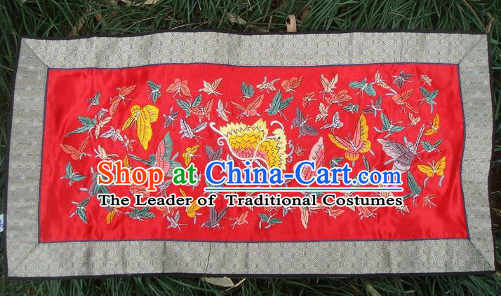 Traditional Chinese Miao Nationality Classic Hand Made Embroidery Flake-One Hundred of Butterflies