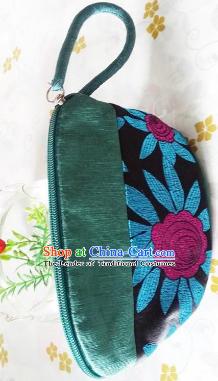 Chinese Traditional Style Purse Min Guo Lady Stage Play Property