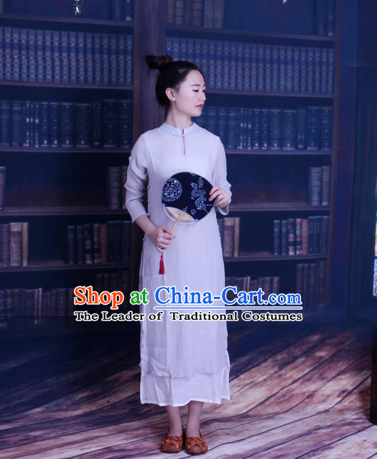 Traditional Chinese Female Costumes,Chinese Acient Clothes, Chinese Plate Buttons Cheongsam, Tang Suits Hanfu Blouse for Women