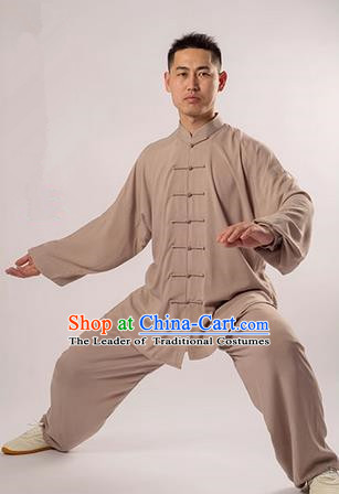 Top Noil Poplin Kung Fu Costume Martial Arts Kung Fu Training Uniform Gongfu Shaolin Wushu Clothing Tai Chi Taiji Teacher Suits Uniforms for Men