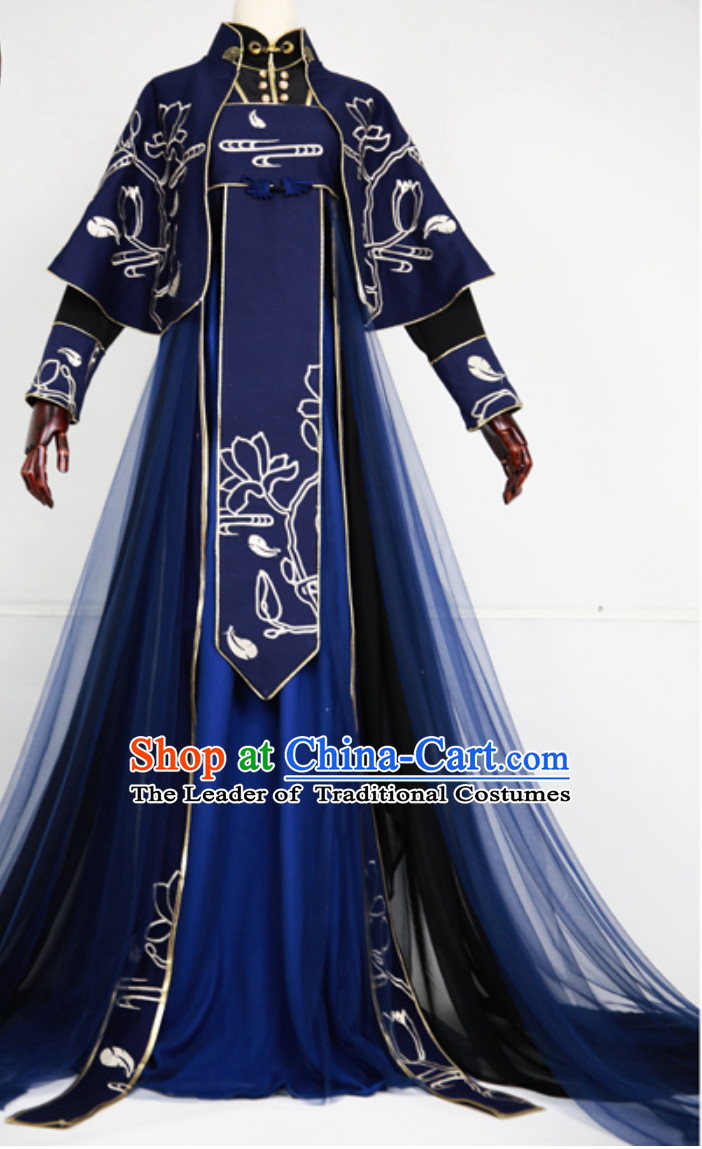 Chinese Classical Royal Hanfu Clothing Garment Complete Set