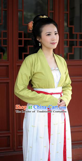 Traditional Chinese Tang Dynasty Imperial Consort Embroidered Costume, Asian China Ancient Imperial Concubine Hanfu Clothing for Women