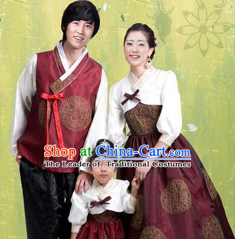Traditional Korean Costumes Parent Child Outfit Full Dress Family