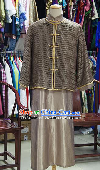 Traditional Ancient Chinese Manchu Royal Highness Mandarin Jacket Costume, Asian Chinese Qing Dynasty Emperor Clothing for Men