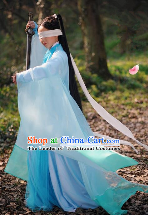 Traditional Chinese Fairy Palace Lady Embroidered Costume, Ancient China Ten great III of peach blossom Princess Green Dress Clothing