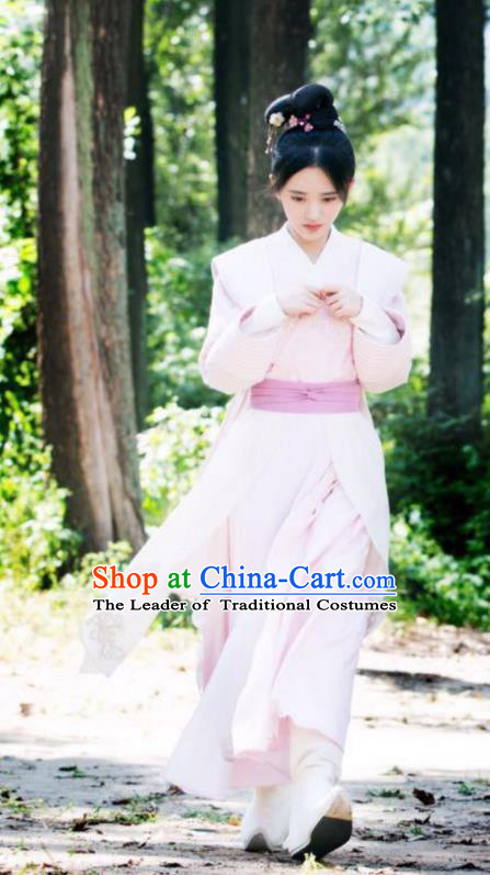 Asian China Tang Dynasty Nobility Lady Costume, Traditional Chinese Ancient Princess Hanfu Clothing