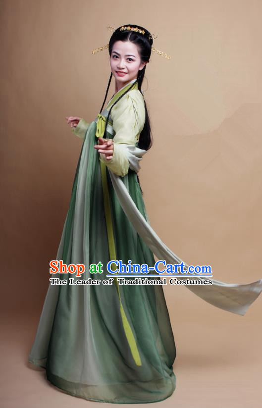 Asian China Ming Dynasty Young Lady Costume Black Blouse, Traditional Chinese Ancient Princess Embroidered Hanfu Clothing for Women