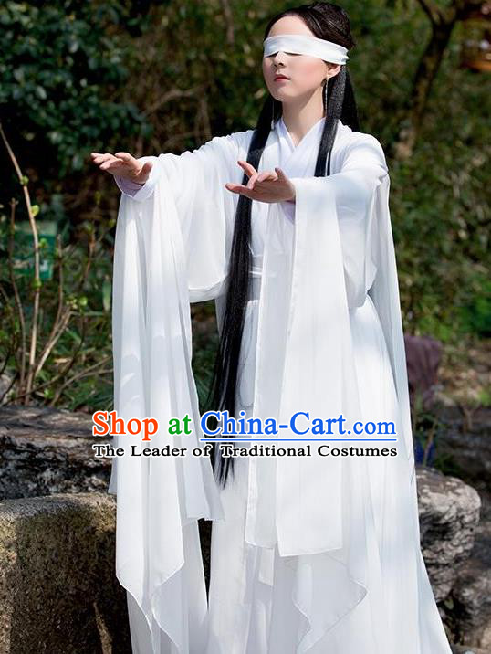 Traditional Ancient Chinese Royal Princess Fairy Costume, Elegant Hanfu Clothing Chinese Tang Dynasty Imperial Concubine Clothing for Women