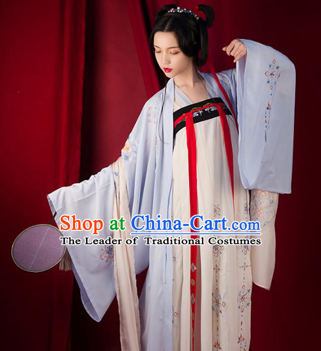 Traditional Chinese Tang Dynasty Palace Lady Hanfu Costume Slip Skirt, Asian China Ancient Princess Dress Clothing for Women