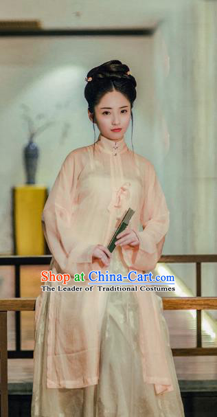 Traditional Chinese Ancient Costume Imperial Concubine Blouse, Asian China Ming Dynasty Palace Lady Clothing Complete Set for Women
