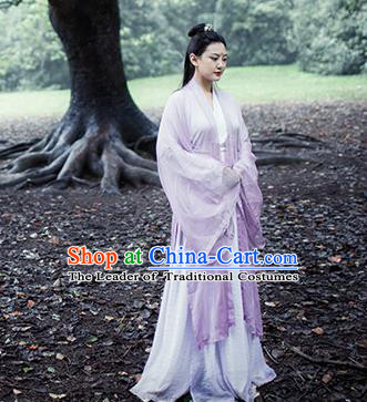 Traditional Chinese Ancient Costume Princess Pink Slip Skirt, Asian China Jin Dynasty Palace Lady Hanfu Dress Clothing for Women