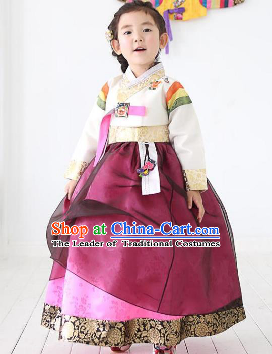 Korean Traditional Costumes, Korean Clothes Wedding Full Dress Formal Attire Ceremonial Clothes, Korea Court Stage Dance Clothing for Kids