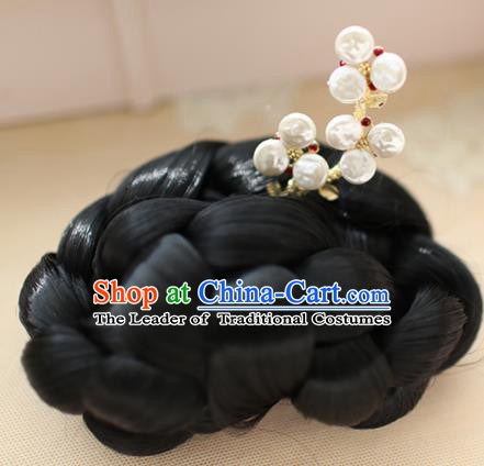 Traditional Korean National Hair Accessories Wedding Pearls Hairpins