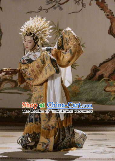 Traditional Ancient Chinese Peking Opera Imperial Concubine Costume, Chinese Beijing Opera Diva Embroidered Clothing for Women