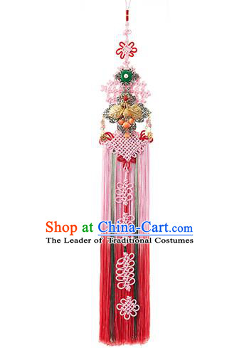 Traditional Korean Accessories Bride Chinese Knots Waist Pendant Embroidered Palace Taeniasis, Asian Korean Wedding Hanbok Tassel Waist Decorations for Women