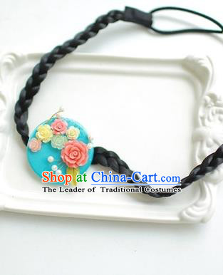 Korean National Hair Accessories Flowers Hair Clasp, Asian Korean Hanbok Fashion Headwear Headband for Kids