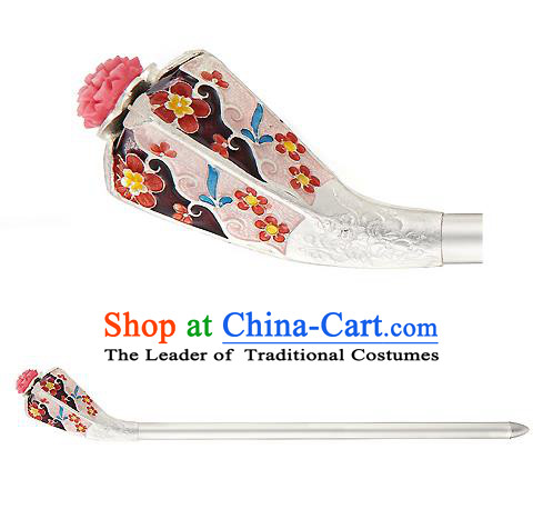 Traditional Korean National Hair Accessories Bride Hairpins, Asian Korean Hanbok Fashion Headwear Palace Hair Stick for Women