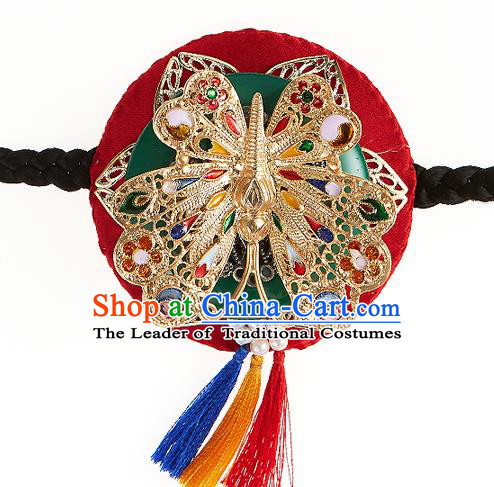 Traditional Korean National Hair Accessories Crystal Hair Clasp Palace Hanbok Fashion Headwear Headband for Women