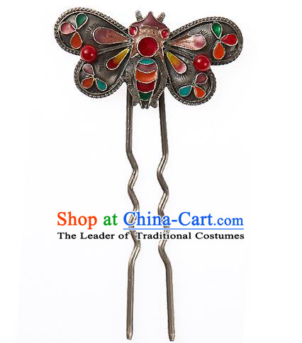 Korean National Wedding Hair Accessories Bride Bee Hairpins, Korean Hanbok Fashion Palace Hair Clasp for Women