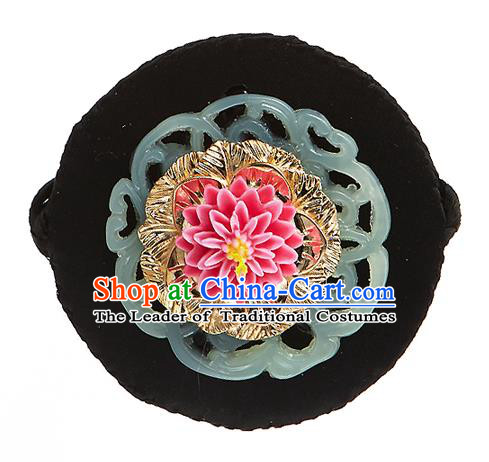 Korean National Wedding Hair Accessories Bride Lotus Headband, Korean Hanbok Fashion Palace Hair Clasp for Kids