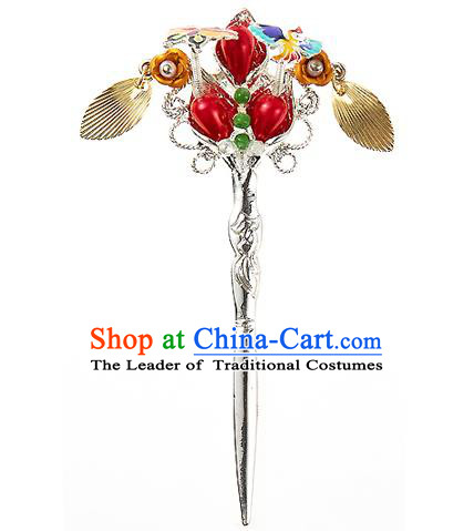Korean National Wedding Hair Accessories Bride Hairpins, Korean Hanbok Fashion Palace Hair Clasp for Women