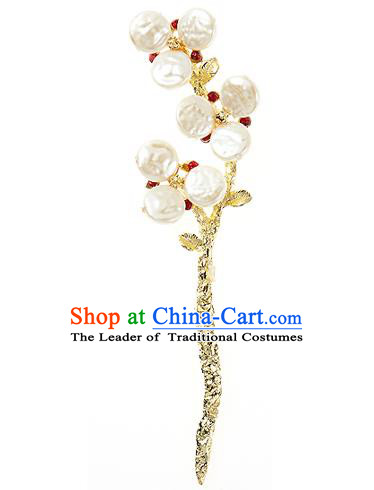 Korean National Wedding Hair Accessories Bride Golden Hairpins, Korean Hanbok Fashion Palace Hair Clasp for Women