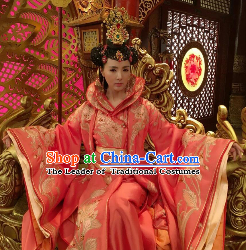 Traditional Ancient Chinese Costume Elegant  Han Dynasty Hanfu Embroidered Clothing