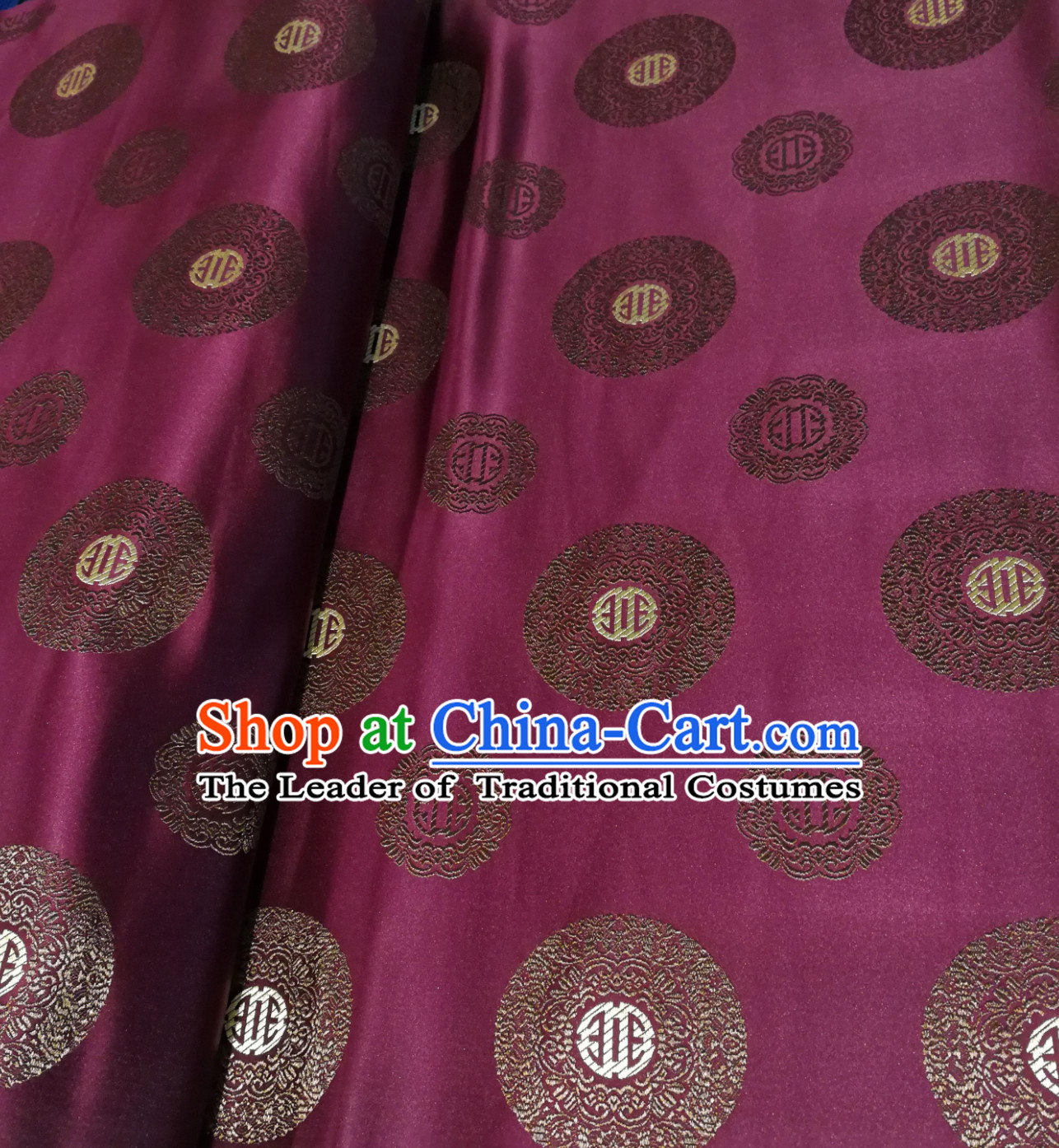Purple Color Chinese Royal Palace Style Traditional Pattern Design Brocade Fabric Silk Fabric Chinese Fabric Asian Material