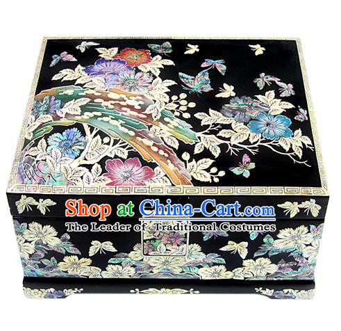 Asian Korean Hanbok Decorations Dressing Case Shell Jewellery Box for Women