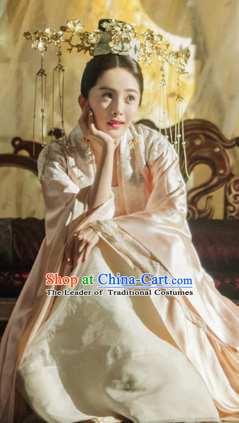 Traditional Chinese Ancinet Legend Of Fu Yao Imperial Empress Tailing Embroidered Costume for Women