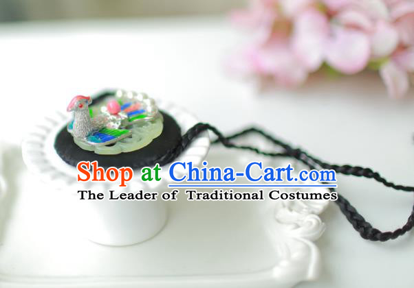 Korean National Bride Hair Accessories Phoenix Hair Clasp, Asian Korean Hanbok Palace Headband Headwear for Kids