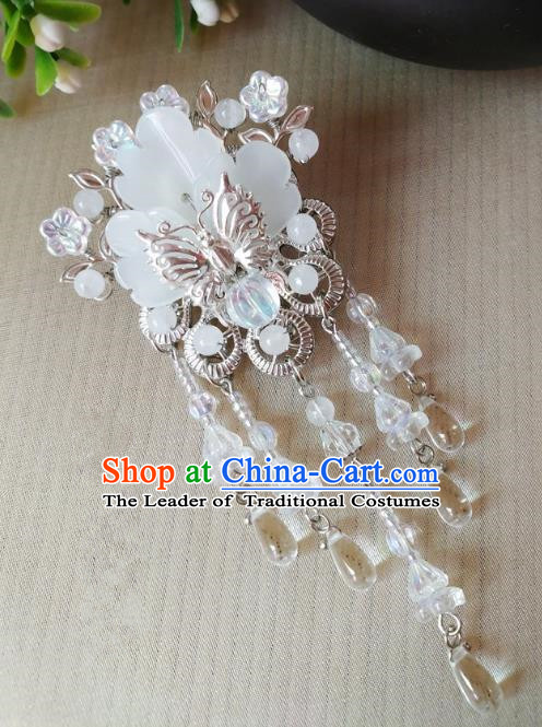 Traditional Chinese Ancient Classical Hair Accessories Hanfu Butterfly Tassel Hair Stick Step Shake Hairpins for Women