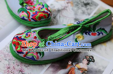 f9cd0f937be44c Asian Chinese Traditional Shoes Green Bride Embroidered Shoes