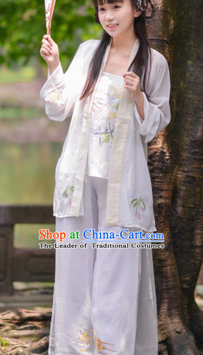 dcbe7abeb6 Asian China Song Dynasty Young Lady Costume Blouse and Pants ...