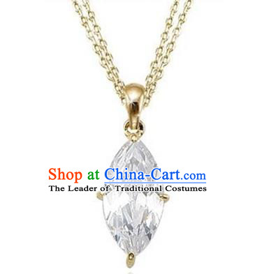 Traditional Korean Accessories Asian Korean Fashion Wedding 14K Gold Necklace for Women