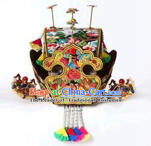 Traditional Korean Hair Accessories Bride Tuinga, Asian Korean Fashion Imperial Empress Wedding Crown Headwear for Women