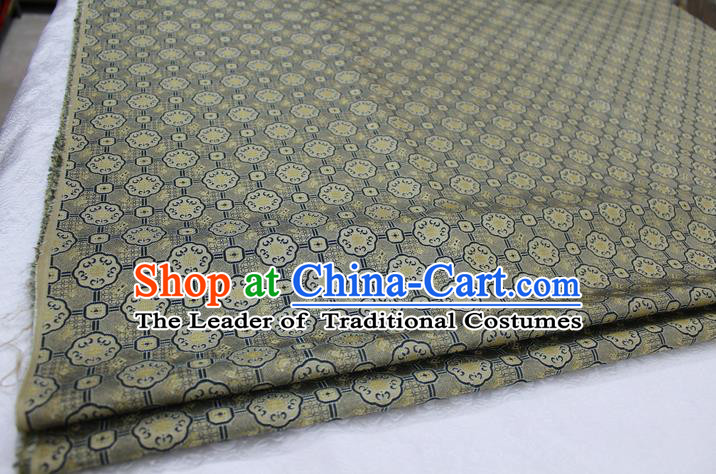 Chinese Traditional Ancient Costume Palace Pattern Mongolian Robe Grey Brocade Tang Suit Fabric Hanfu Material