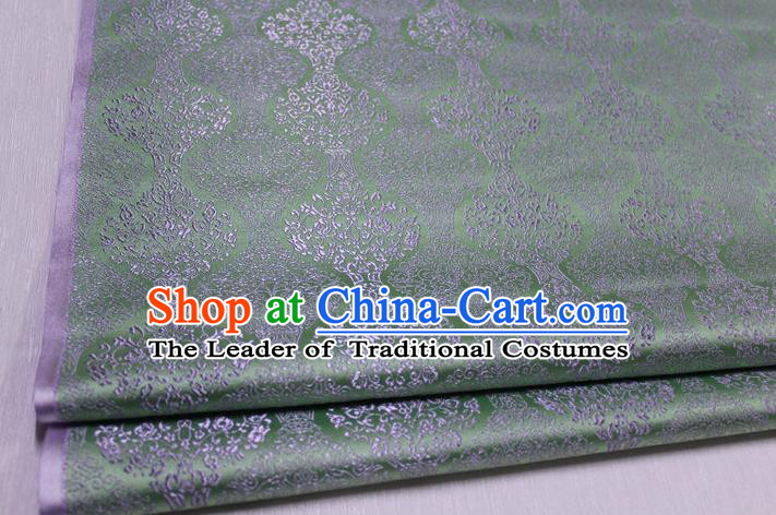 Chinese Traditional Ancient Costume Palace Pattern Cheongsam Mongolian Robe Green Brocade Tang Suit Fabric Hanfu Material