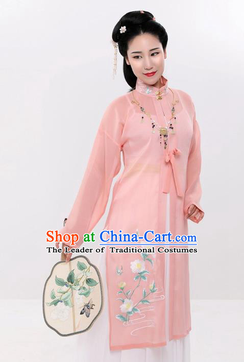 Traditional Chinese Ming Dynasty Palace Lady Imperial Consort Hanfu Embroidered Costume for Women
