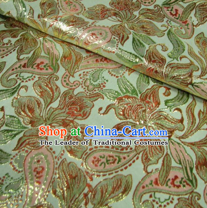 Chinese Traditional Palace Flowers Pattern Design Hanfu Brocade Fabric Ancient Costume Tang Suit Cheongsam Material