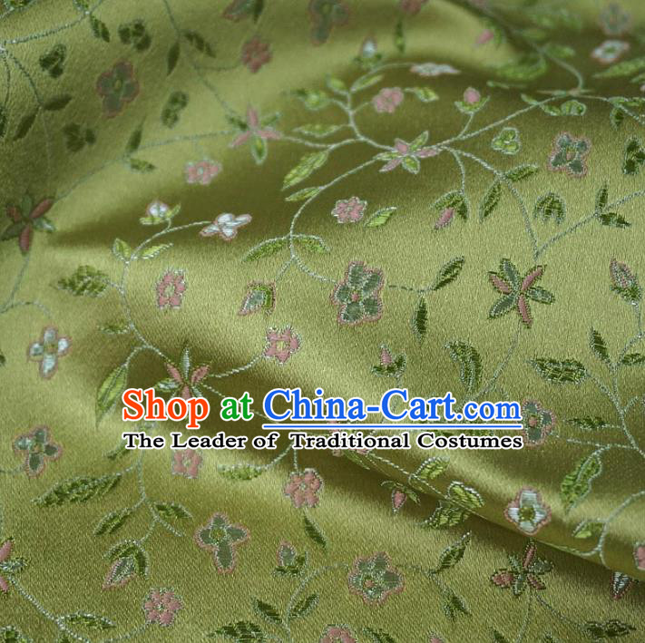 Chinese Traditional Palace Twine Pattern Hanfu Green Brocade Fabric Ancient Costume Tang Suit Cheongsam Material