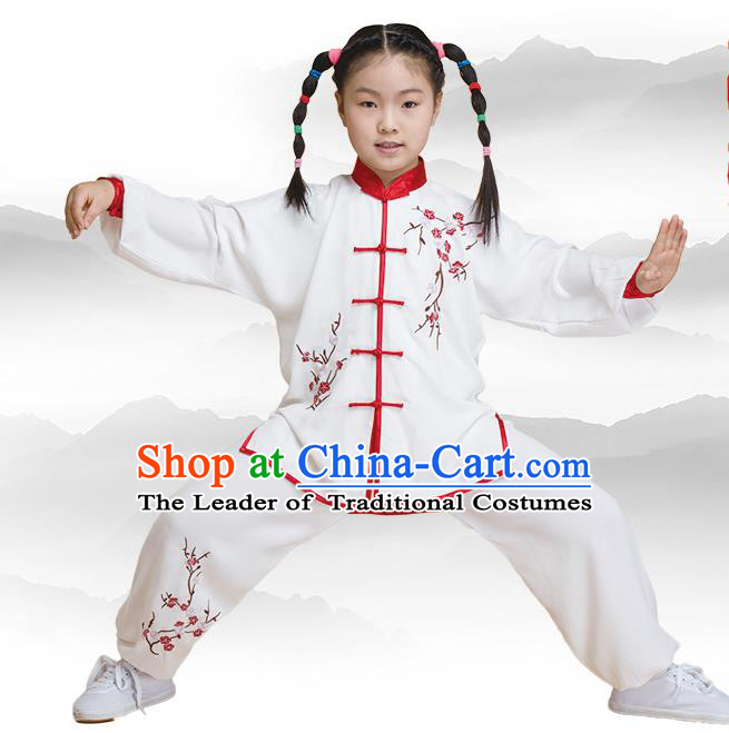 Traditional Chinese Kung Fu Embroidered Costume, China Martial Arts Tai Ji Clothing for Kids