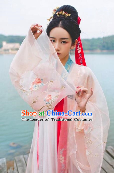 826526ed45 Traditional Chinese Tang Dynasty Imperial Concubine Dress Ancient Palace  Lady Hanfu Embroidered Costume for Women