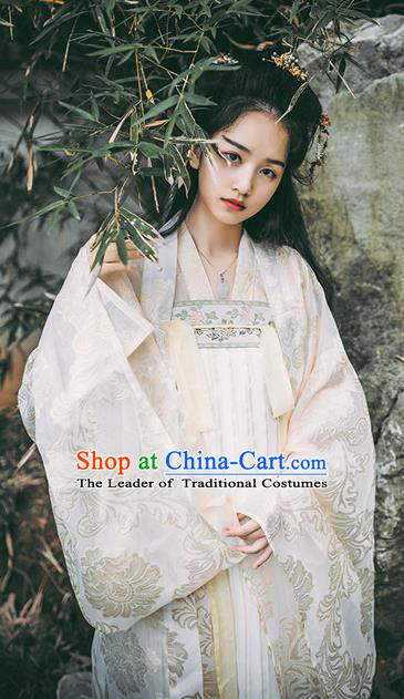 Traditional Chinese Tang Dynasty Palace Lady Dress Ancient Imperial Concubine Hanfu Embroidered Costume for Women