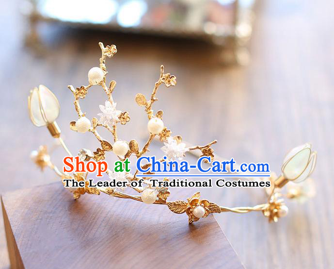 Chinese Traditional Bride Hair Jewelry Accessories Wedding Baroque Retro Flowers Hair Clasp for Women