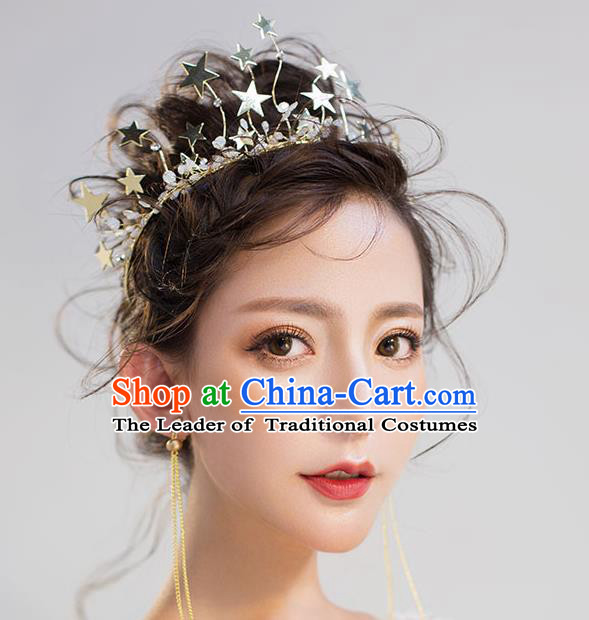 Chinese Traditional Bride Hair Jewelry Accessories Wedding Star Hair Clasp Headwear for Women