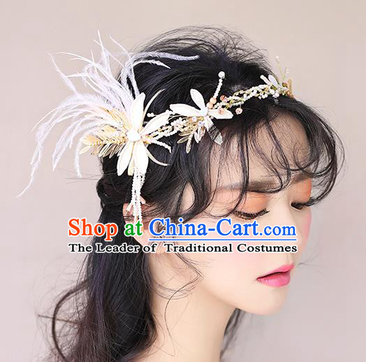 Chinese Traditional Bride Hair Jewelry Accessories Wedding Baroque Retro Dragonfly Hair Clasp for Women