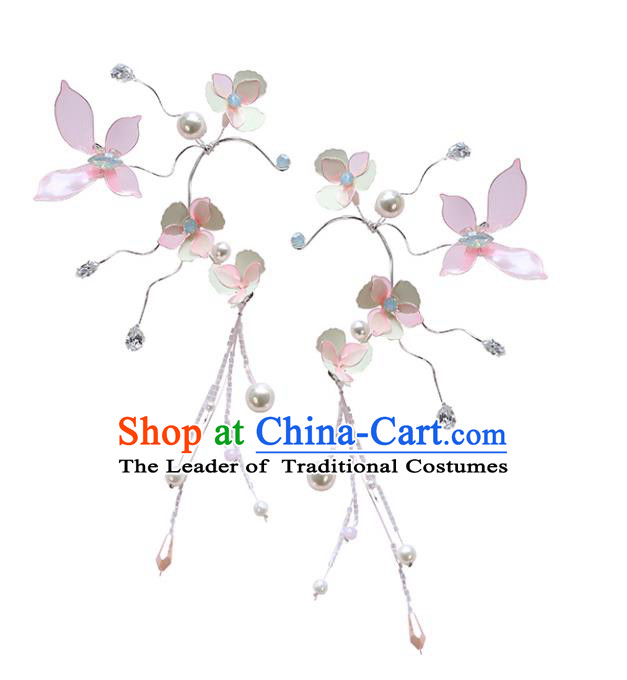Chinese Traditional Bride Hair Jewelry Accessories Wedding Baroque Retro Flowers Hair Stick for Women