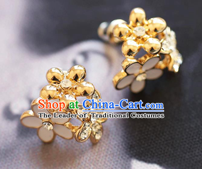 Chinese Traditional Bride Jewelry Accessories Earrings Princess Wedding Flowers Eardrop for Women